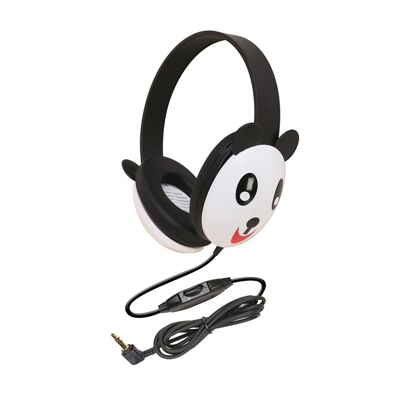 LISTENING FIRST ANIMAL-THEMED  STEREO HEADPHONES PANDA