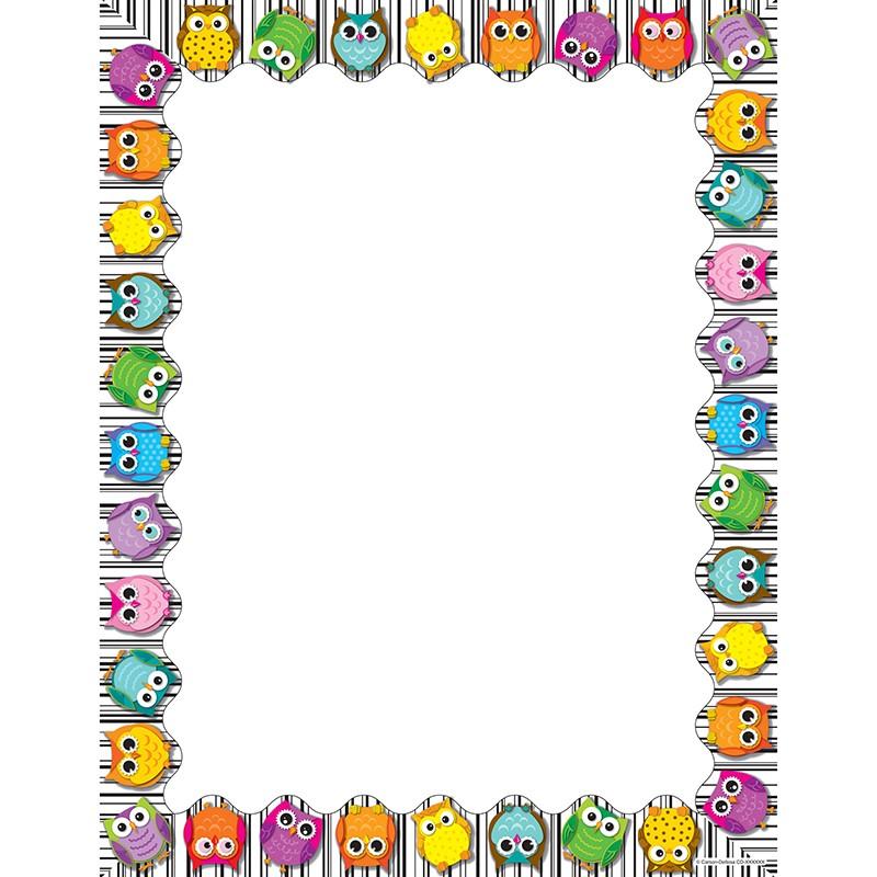COLORFUL OWLS COMPUTER PAPER