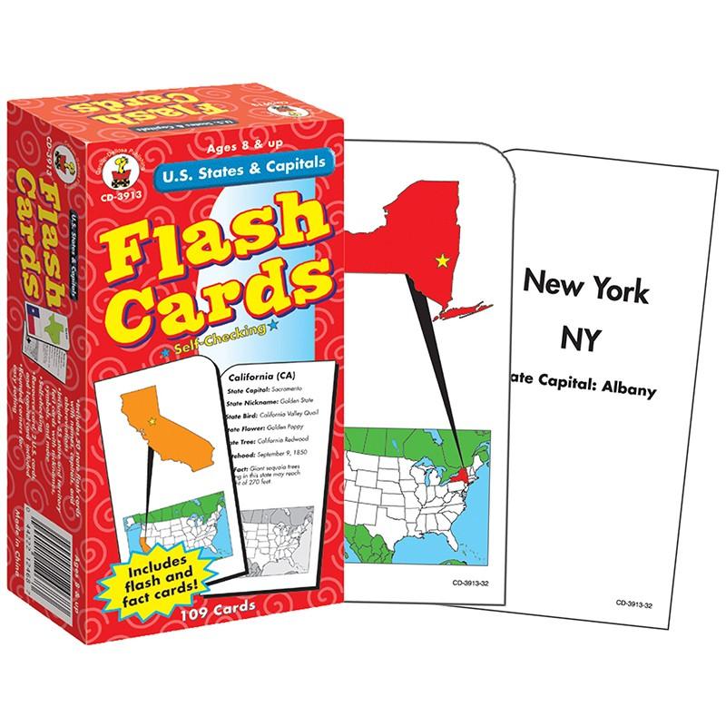 (3 EA) FLASH CARDS US STATES &  CAPITALS