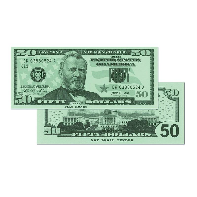$50 Bills Set Of 50