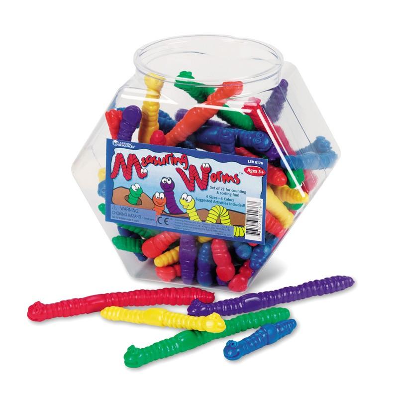 Wiggley Jiggley Worm Cters 72pcs
