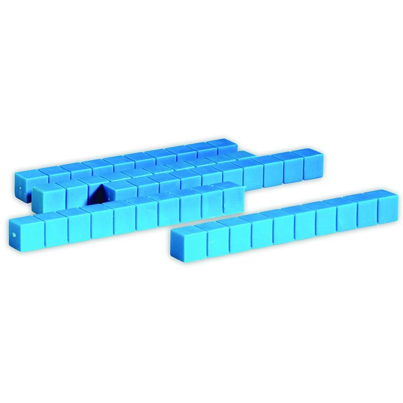 Base Ten Rods Plastic Blue 50 Pk 1x1x10cm