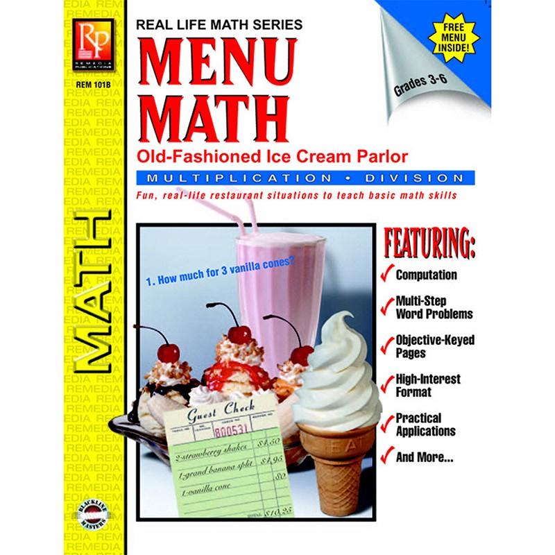 MENU MATH ICE CREAM PARLOR BOOK-2  MULTI