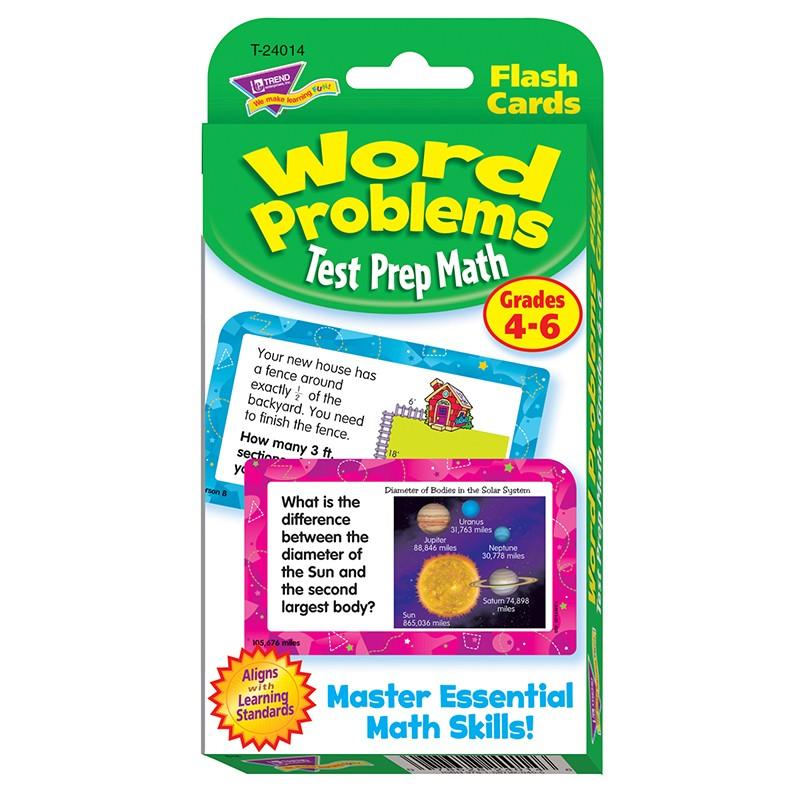 CHALLENGE CARDS TEST PREP MATH  GR 4- 6 WORD PROBLEMS