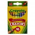 CRAYOLA REGULAR SIZE CRAYONS 16PK