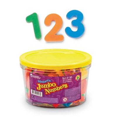jumbo magnetic numbers 36pk operations 2 12 bucket