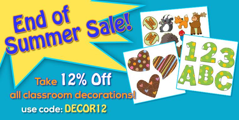 12% Off Classroom Decorations