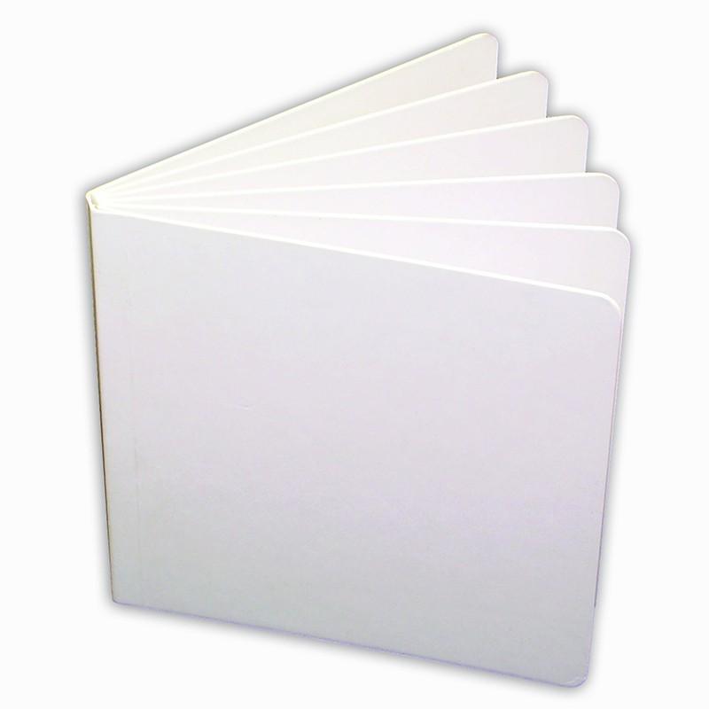 (10 EA) WHITE HARDCOVER BLANK BOOK  5 X 5