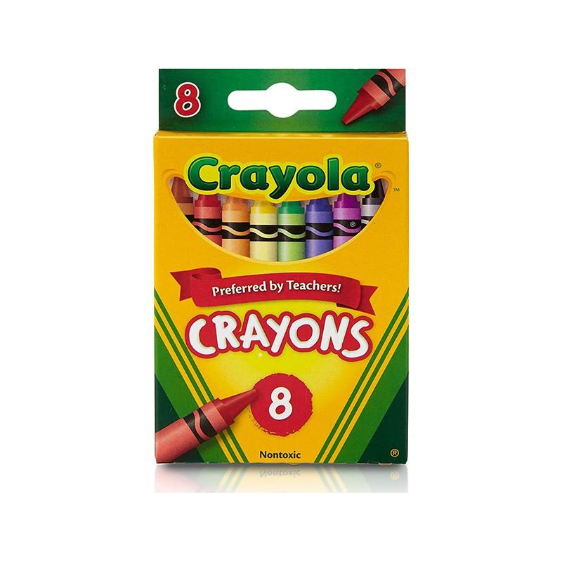 CRAYOLA CRAYONS 8 COLOR PEGGABLE