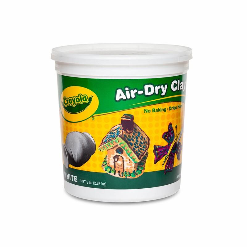 CRAYOLA AIR DRY CLAY 5 LBS WHITE