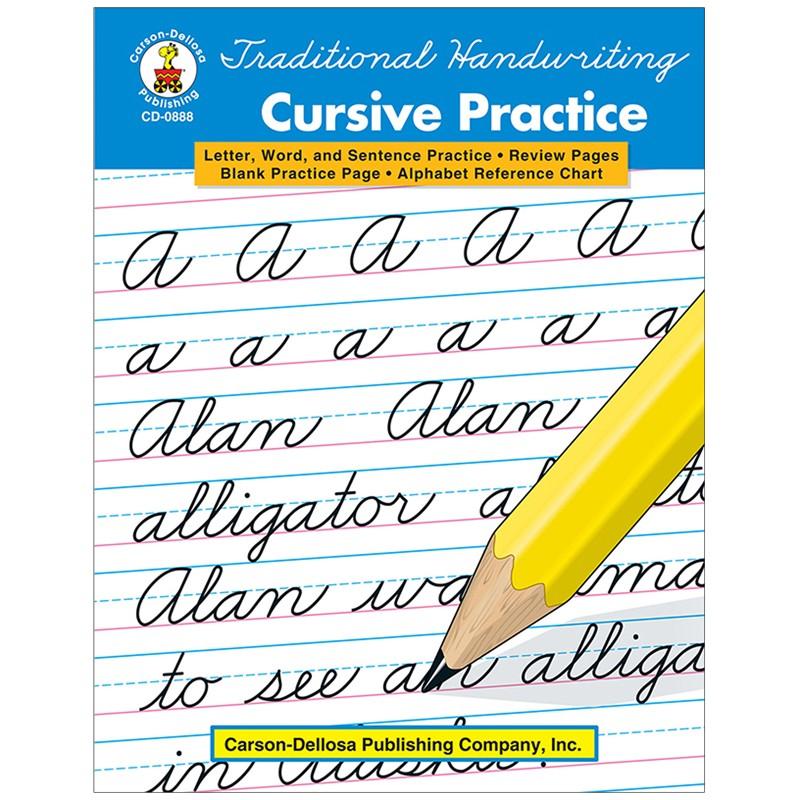 TRADITIONAL HANDWRITING CURSIVE  PRACTICE BOOK