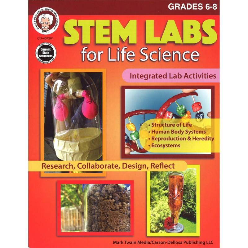 STEM LABS  LIFE SCIENCE BOOK GR 6-8