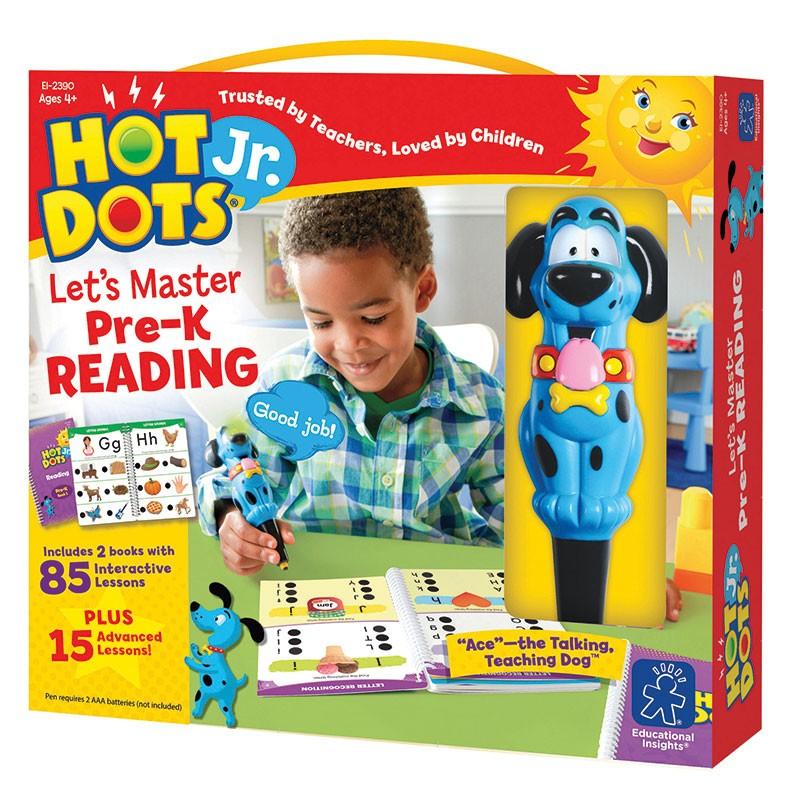 HOT DOTS JR LETS MASTER READING  GR PK