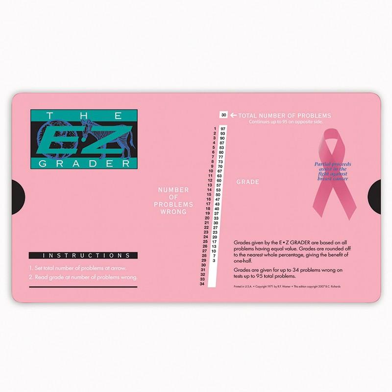 BREAST CANCER PINK E-Z GRADER