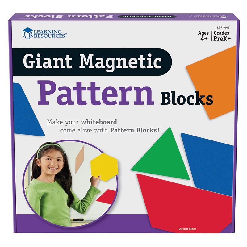 GIANT MAGNETIC PATTERN BLOCKS SET  OF 47