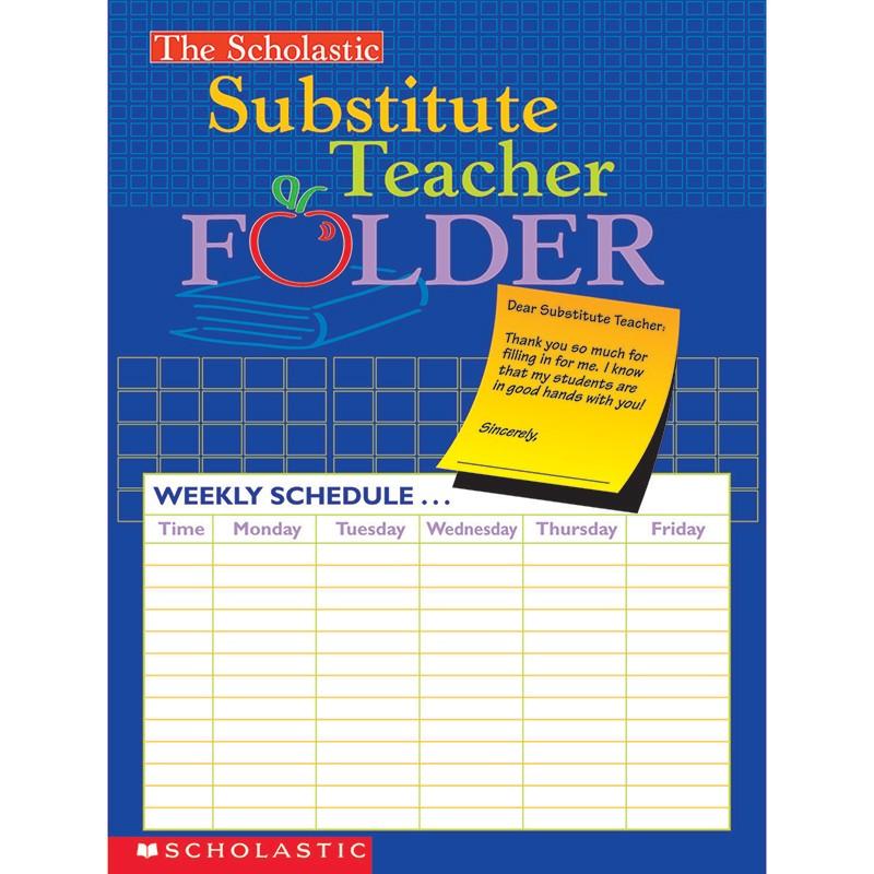 (10 EA) SUBSTITUTE TEACHER FOLDER