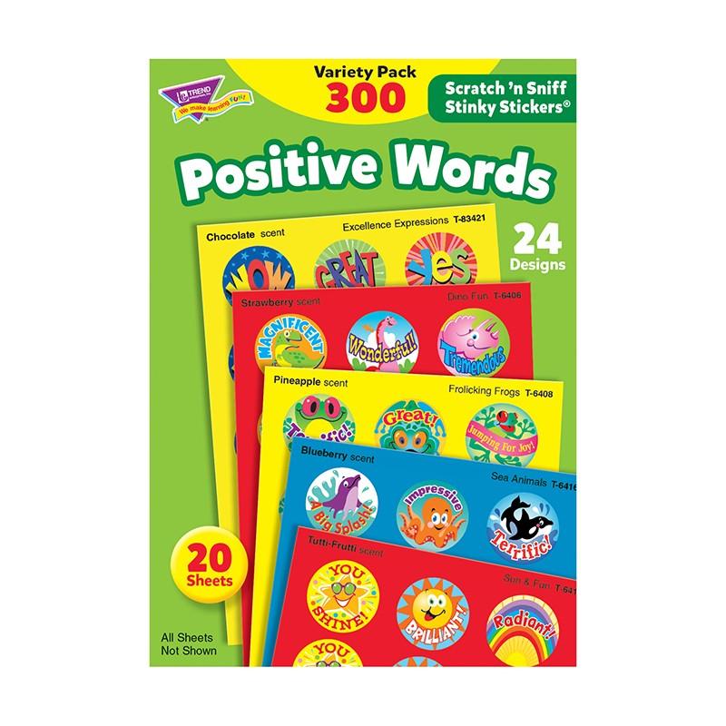 STINKY STICKERS POSITIVE WORDS  ACID-FREE VARIETY 300/PK
