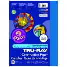 TRU RAY 9 X 12 BLUE 50 SHT  CONSTRUCTION PAPER