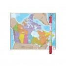 HEMISPHERES LAMINATED MAP CANADA