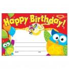 HAPPY BIRTHDAY OWL STARS  RECOGNITION AWARDS